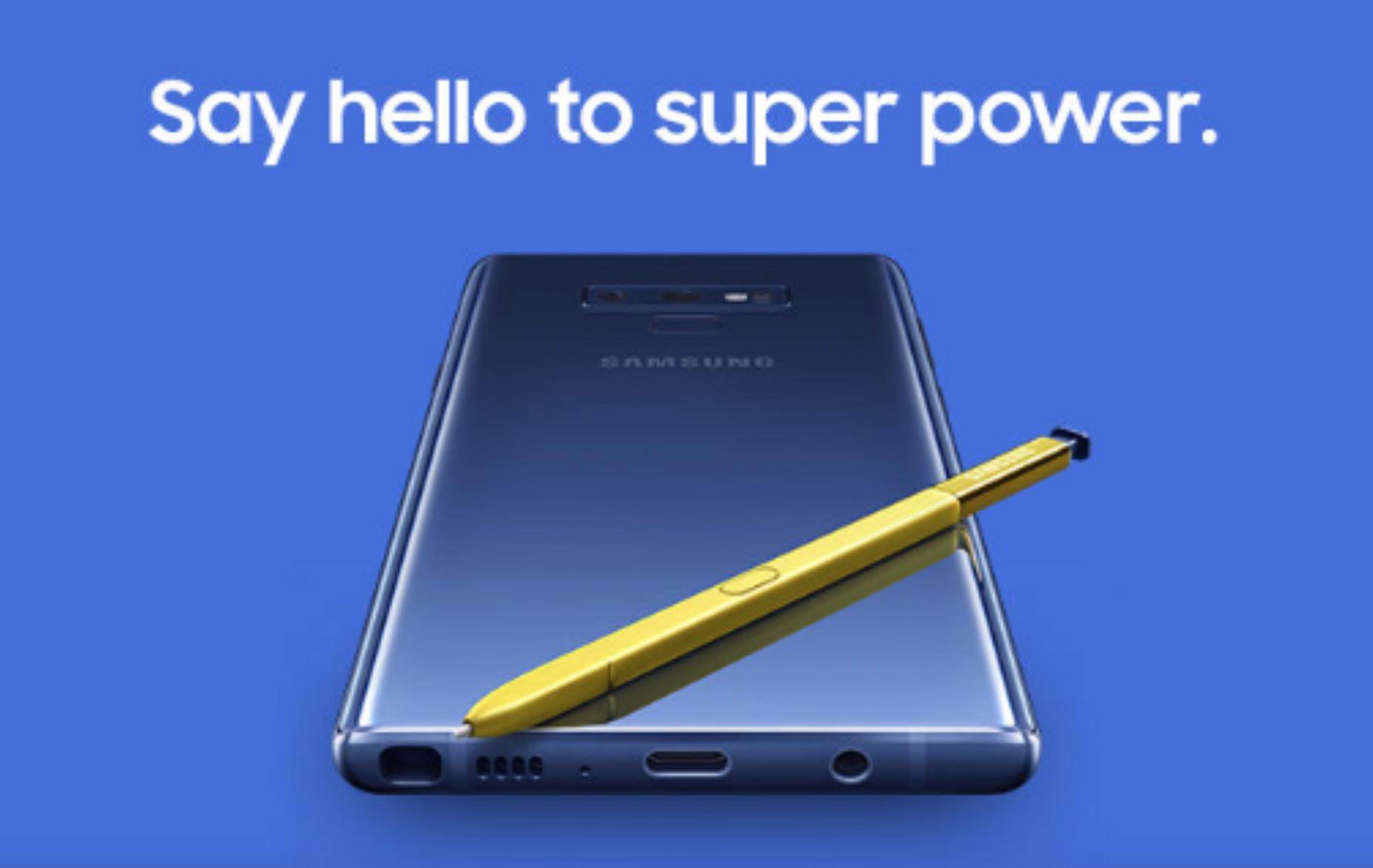 Điện thoại Samsung Galaxy Note 9 mới nhất hiện nay