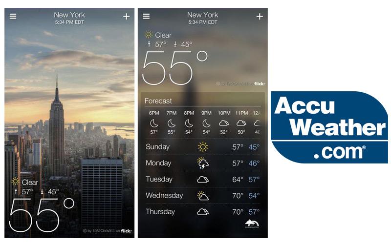 AccuWeather là ứng dụng thời tiết hay cho android với khả năng dự báo thời tiết cho gần 1,5 tỷ thiết bị