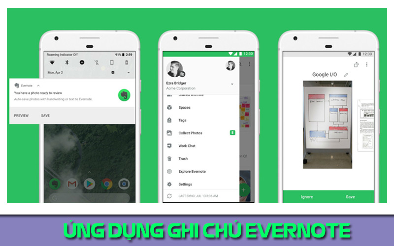 ứng dụng ghi chú hay cho android EverNote