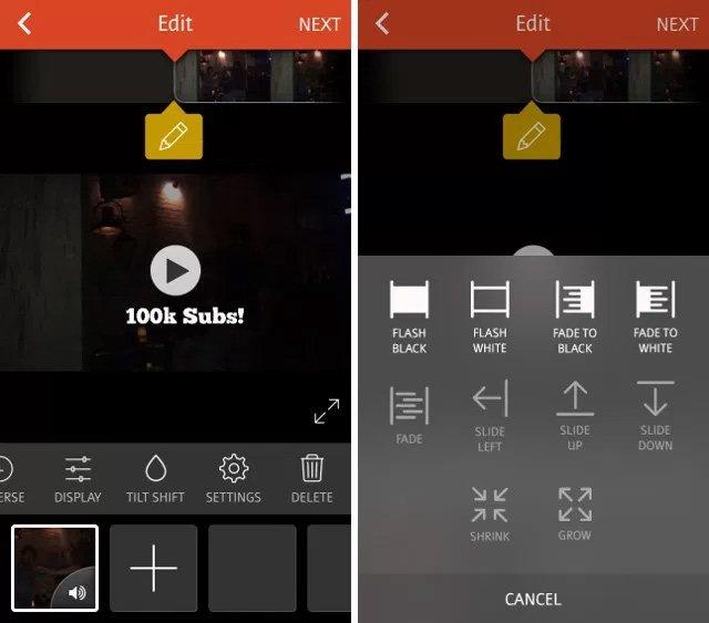 các phần mềm làm video trên điện thoại
