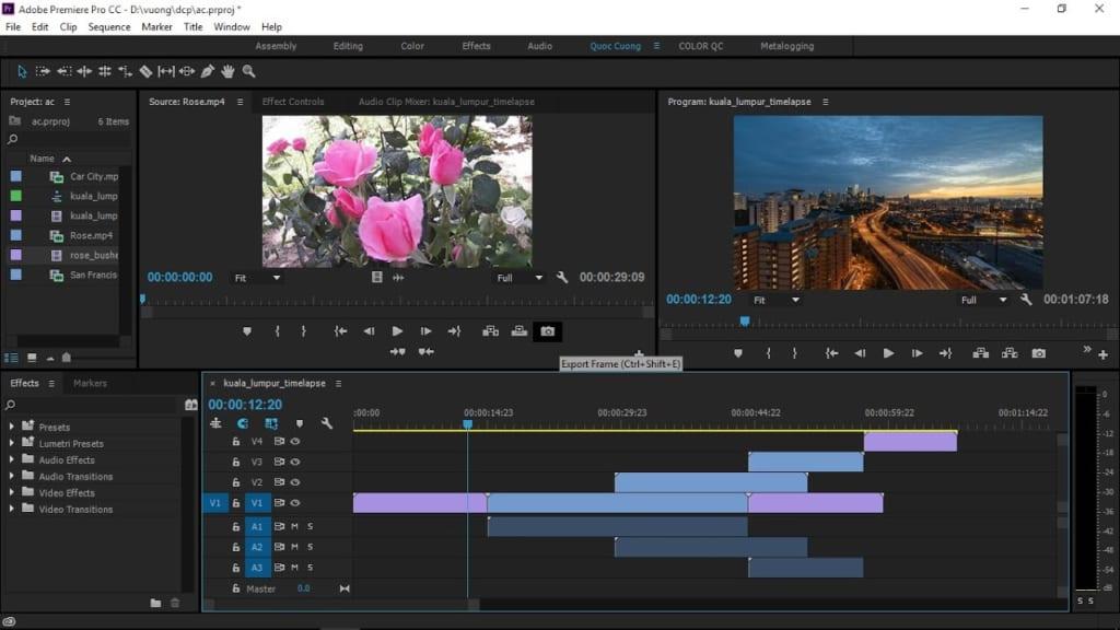 các phần mềm làm video trên máy tính